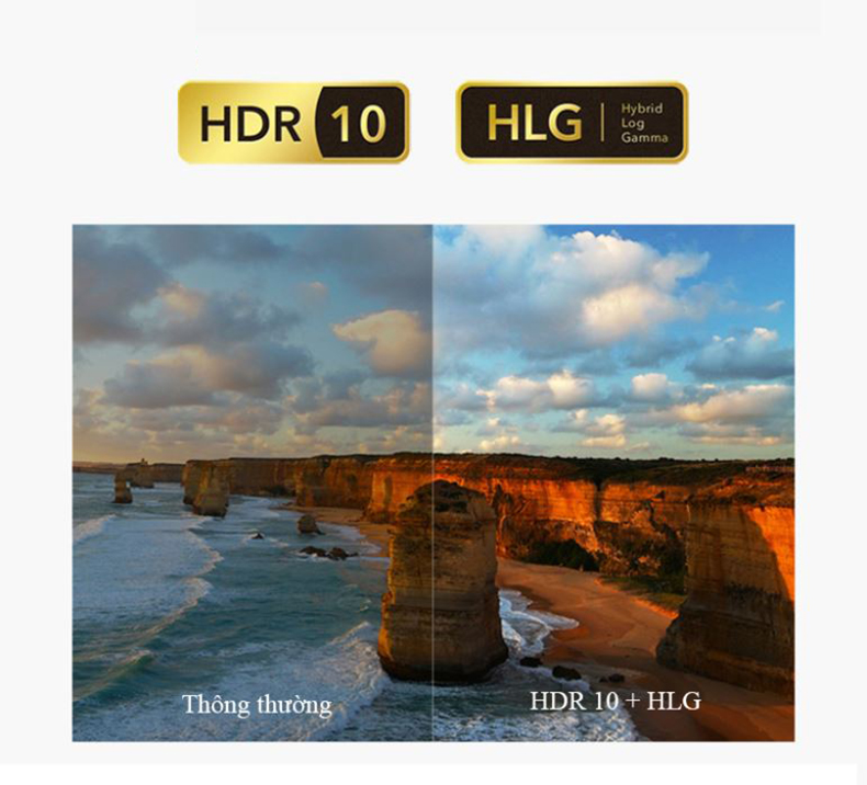 Hỗ trợ HDR10 + HLG
