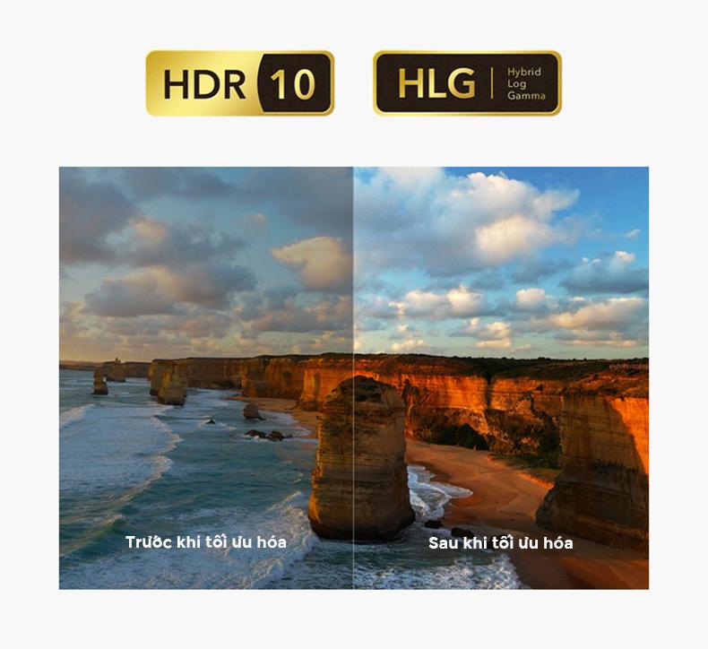 Tivi Xiaomi 4A 49 inch ới công nghệ hiển thị hình ảnh HDR + HLG
