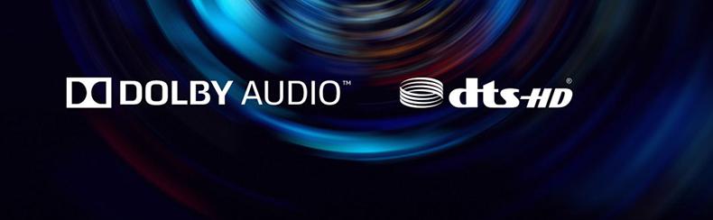 Công nghệ âm thanh Dolby + DTS-HD
